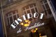 Leinwandbild Motiv Café, bar, bistrot, restaurant, vitrine, français, rétro, france