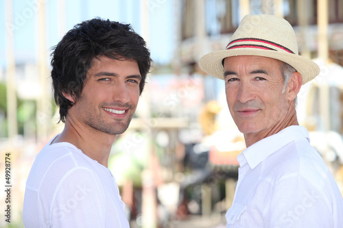 men in downtown, atmosphere sounds summer vacation