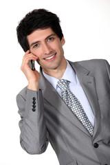 Businessman man on cellphone