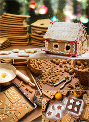 Gingerbread cottage for Christmas