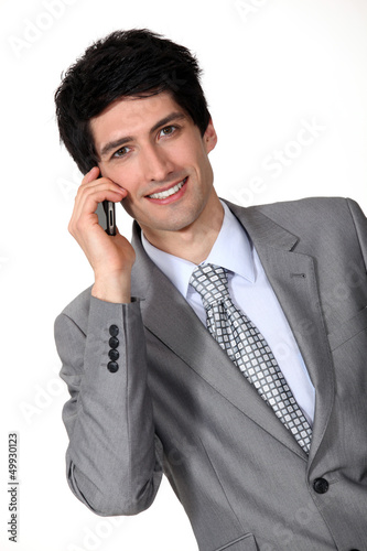 Businessman man on cellphone