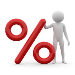 3d human - percentage