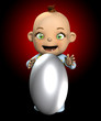 Baby With A Big Egg 1