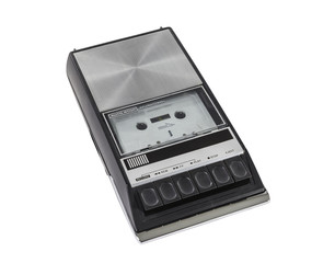Vintage Portable Cassette Tape Player and Recorder