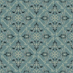 Seamless damask wallpaper (eps10)