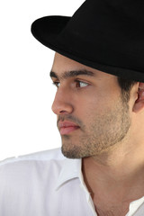 Trendy young man wearing a hat