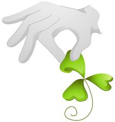 St Patrick's Day Pick Clover