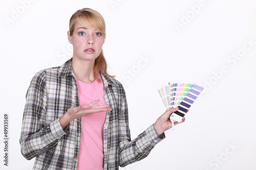 Woman overwhelmed by choice