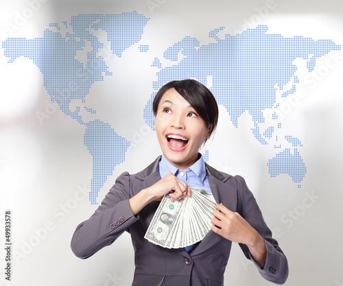 Globe business concept