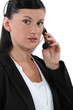 Portrait of a receptionist wearing a headset