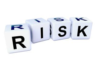 Risk spelt in white dice