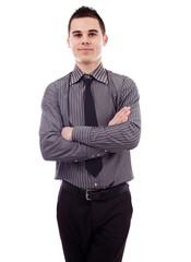 Closeup of young businessman