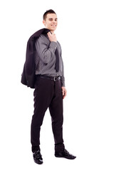 Full length of young businessman
