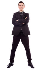 Full length of successful businessman