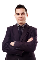 Young businessman in closeup