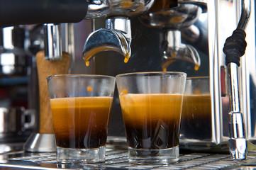 espresso in glassware