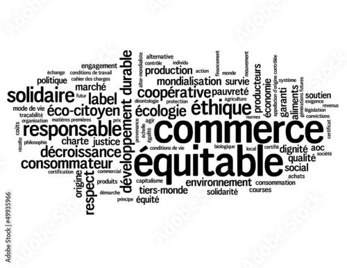 """Nuage de Tags """"COMMERCE EQUITABLE"""" (développement durable label)"""