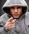 Closeup of a dangerous gangster