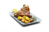 roasted lamb with potatoes