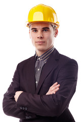 Closeup of confident engineer