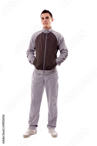 Young man in track-suit and sneakers