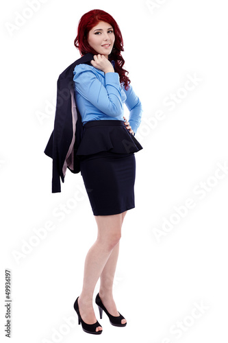 Full length of young business woman