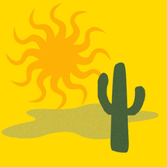 desert cactus hot