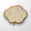 Wrinkled old paper cloud.