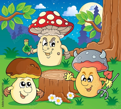 Staande foto Magische wereld Mushroom theme image 6