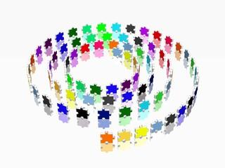 Puzzleteil - Spirale