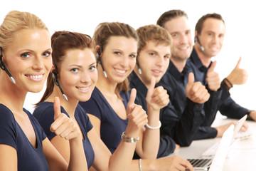 zufriedene Angestellte
