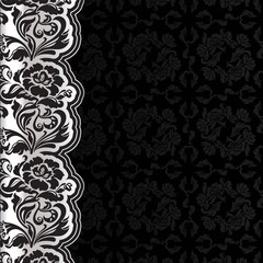 Background with lace, dark square