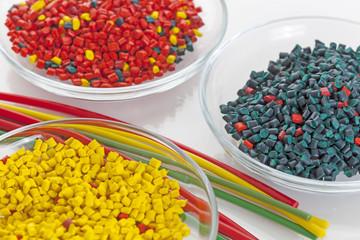 Colorful plastic masterbatch tubes
