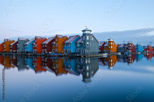 Reitdiep jachthaven before sunrise