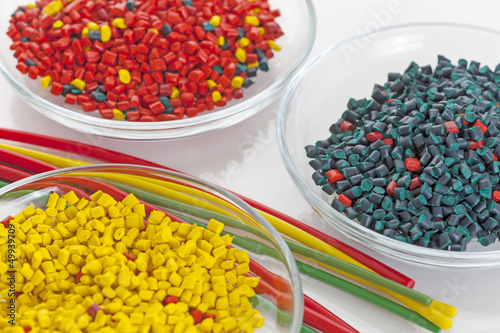 Colorful plastic masterbatch tubes