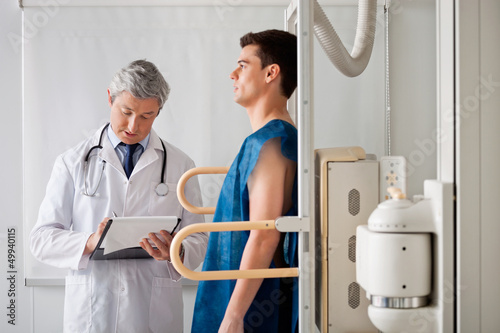 Male Patient Undergoing X-ray Test