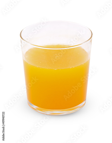 side view of orange juice