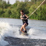 beauty girl on wakeboard