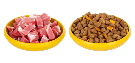Natural meat dog food or dry food