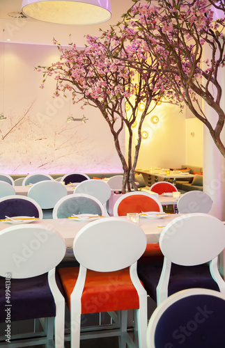 spring theme in modern restaurant