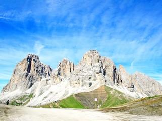 Sasso lungo mountain landscape of the Dolomites