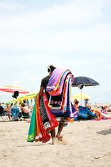Hawker beach towels on the beach