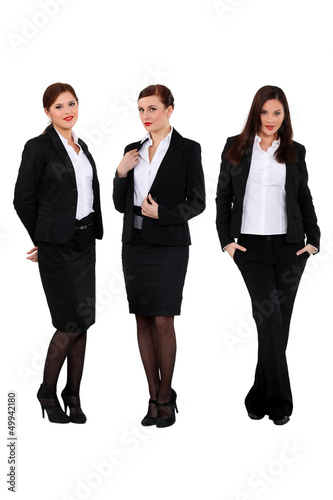 three successful businesswomen