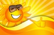 Sunny background with a smiling sun
