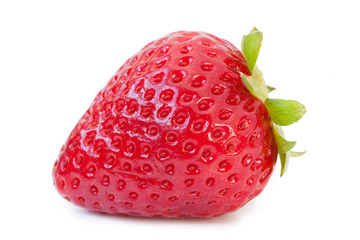 Strawberries on white background_VI