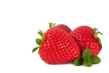 Strawberries on white background_VIII