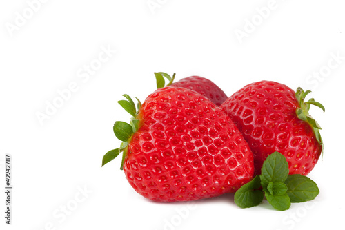 Strawberries on white background_VIII