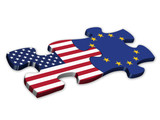 EU & US Flags (American European English politics jigsaw)