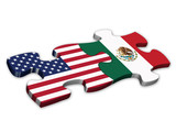 US & Mexican Flags (Mexico American politics jigsaw)