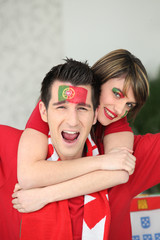 Portugal supporters